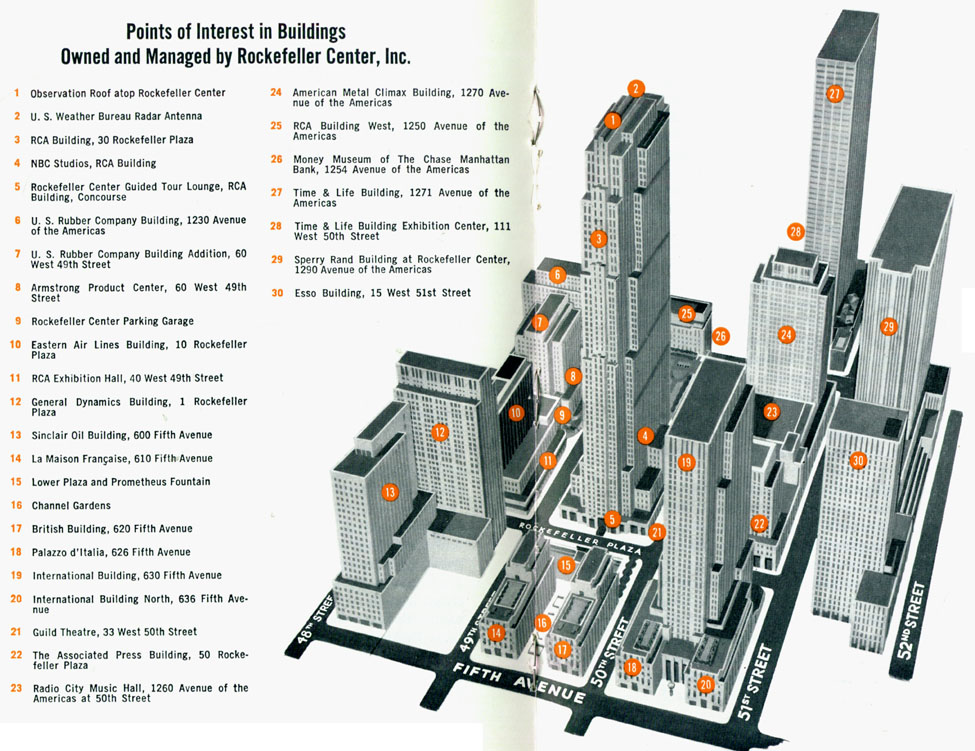 Map Of New York Rockefeller Center.Rockefeller Center An Adventure In Urban Design