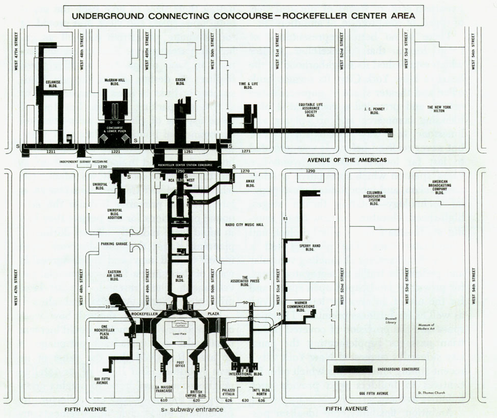 Subway Map To Rockefeller.A Lesser Known Portion Of The 47 50 St Rockefeller Subway Concourse